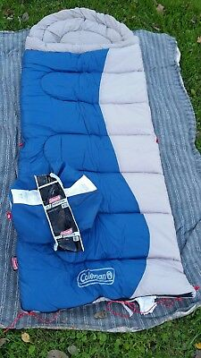Coleman Brighton Sleeping Bag Tall Up To 6ft 2 In Blue