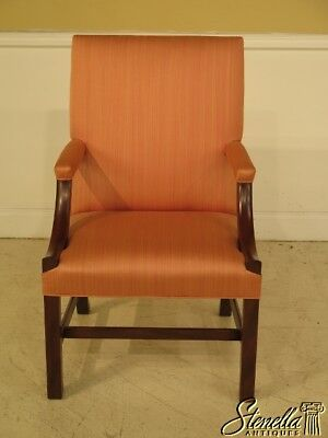 41112: KITTINGER Chippendale Colonial Williamsburg Mahogany Library Chair