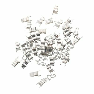 50 Pcs Plug In C Clamp for 5 x 20mm Electronic Fuse Tube E7Y7