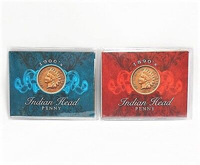Genuine U.S. Coins 1906 and 1898 Indian Head Pennies