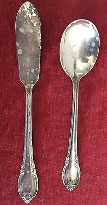 Remembrance 1847 Rogers Bros IS Silverplate Sugar Spoon Butter Knife ~~