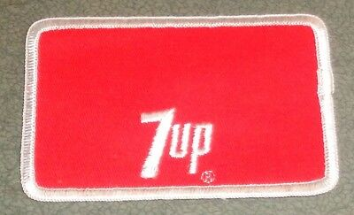 Vintage NOS 7 Up Name Patch Red And White 7 Up Embroidered Uniform Patch