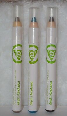 3 Mary Kay At Play EYE CRAYON Over the Taupe Gold Mine Teal Me More New No Box