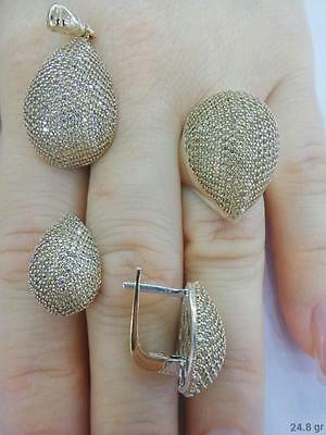 Sterling 925 Silver Jewelry Handmade Fabulous Micro-Pave Citrine Full Sets