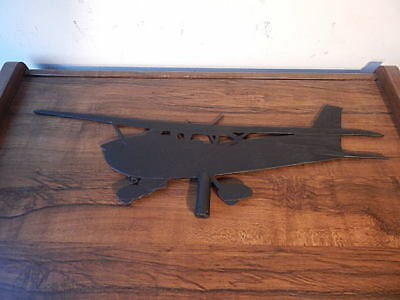 Vintage Black Metal Airplane Weathervane No Stand Included International Sale