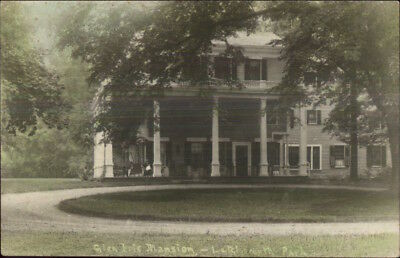 Letchworth Park NY Glen Iris Mansion Tinted Real Photo Postcard c1910