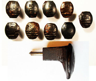9 Easy Screw Railroad Spike Knobs Door Pulls Cupboard Old Antique Vintage Rustic