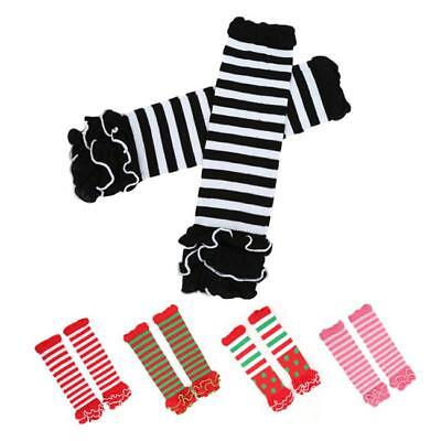 Ruffle Toddler Baby Kids Girls Tights Socks Leg Warmers Striped Stockings J