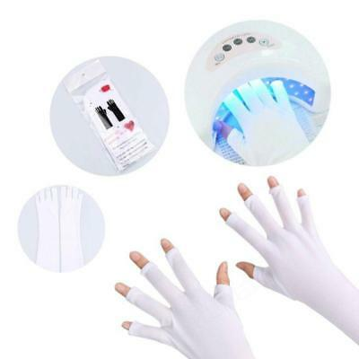 Nail Art UV Gel Protection Polish Tips Lamp Anti-Ultraviolet Open-Toed Gloves J