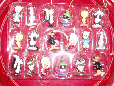 Set of 18~Looney Tunes Mini Ornaments~Bugs, Daffy, Tweety, Taz, 9 Characters