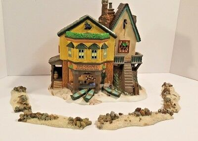 "DEPT 56 DICKEN'S VILLAGE ""THE GRAPES INN"" - #57534 With Sand & Rocks ~"
