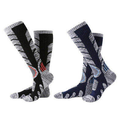 2 Pairs Men Warm Snowboarding Skating Skiing Socks Outdoor Sports Long Socks