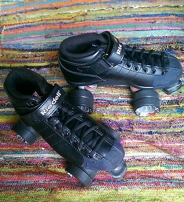 size 7 Riedell skates (plus protective gear)
