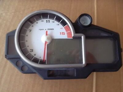 BMW S1000RR 2010 Speedo Tacho Gauges works shows 17315 km damage to outer case