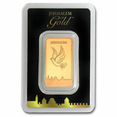 Pure Gold Bar 999.9 Fine 1/2 OZ Ounce The Holy Land Mint Israel Limited