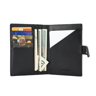 100% Genuine Soft Leather Anti-magnetic Travel Wallet Passport Cover Holder USA