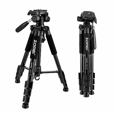 "ZOMEI Q111 55"" Professional Travel Camera Adjustable Tripod for SLR Camera Black"