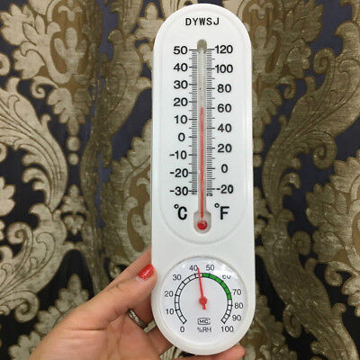INDOOR OR OUTDOOR Vertical Thermometer and Hygrometer Classic with ...