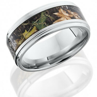 Cobalt Chrome 9mm Flat Band with Grooved Edges