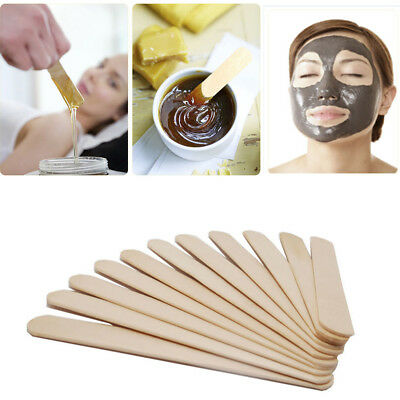 100PCS Wooden Waxing Wax Spatula Tongue Depressor Disposable Bamboo Sticks
