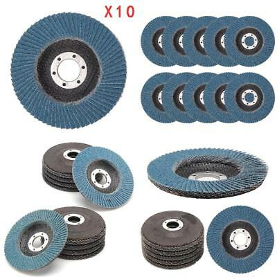 "10 Pcs Professional Flap Sanding Discs 115mm 4.5"" 40 60 80 120 Grit"