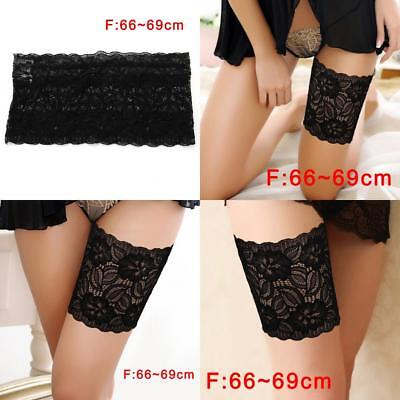 Lady Summer Lace Elastic Socks Anti-Chafing Thigh Bands Prevent Thigh