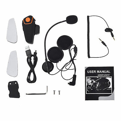 BT-S2 Motorcycle Helmet Bluetooth headset receivers 1000m FM Interphone Radio US