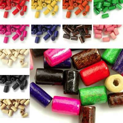 30g(200pcs Approx) Loose Wooden Spacer Wood Beads Tube 8mm IW