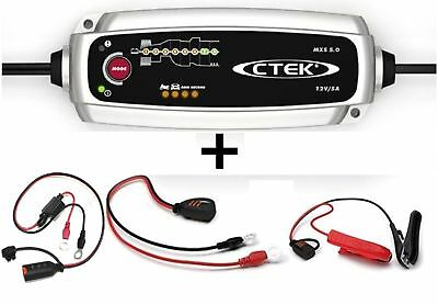 CTEK Set Charger MXS 5.0+ LADE CONDITION DISPLAY CABLE M8 56382