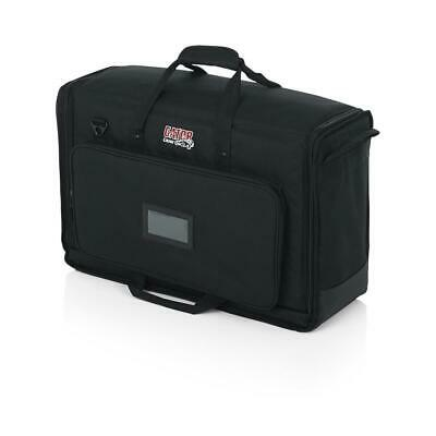 """Gator Cases LCD Tote Series Nylon Transport Bag for 2x 19-24"""" LCD Screen, Small"""