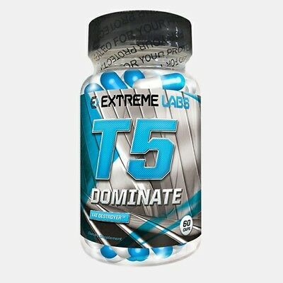 Extreme Labs T5 Dominate 60 Caps Fat Burner - Supplement