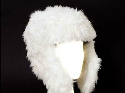 WHOLESALE  LOT 50  faux fur TRAPPER   HATS  white £1 EACH