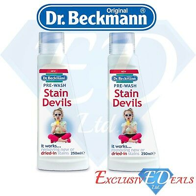 Dr Beckmann Stain Devils Pre-Wash Works Removing New Or Dried Stains - 2 x 250ml