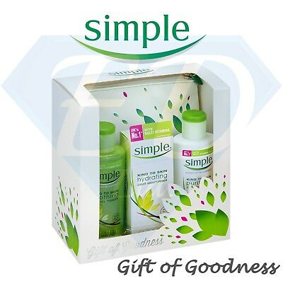 SIMPLE Gift Of Goodness Set 4Piece Gift Your Skin Dermatological Tested New