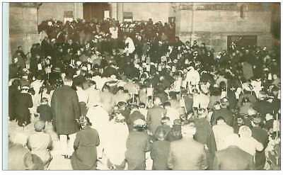 07 . n°36709.la louvesc.cp photo 1934.procession aux flambeaux benediction.