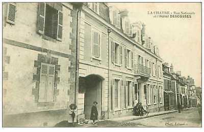 36.la Chatre.n°14.rue Nationale Et L'hotel Descosses.rare