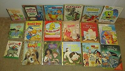 Little Golden Book Lot Of 14 Vintage Children's Plus 3 First small books + Rand