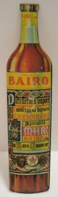 "Antique Tin Figural Gambling Spinner Amaro BAIRO 3  7/8"" Bitters Bottle 1930s"
