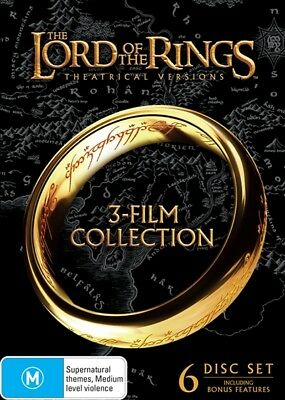 Lord of the Rings Trilogy 3 Movie / Film Collection Region 4 R4 DVD Box Set