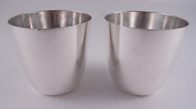 Tiffany Sterling Silver Pair Of Beakers Cups Elegant Antique