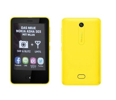 Nokia Asha 503 in Yellow Handy Dummy Attrappe - Requisit, Deko, Ausstellung