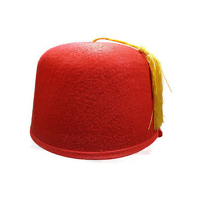 ad3646f9ca068 DELUXE RED AND Gold Fez Hat Costume Shriner Casablanca Cap Party ...