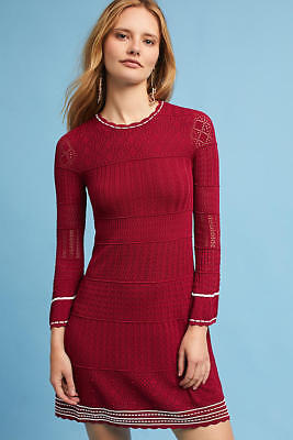 5c7fc19c2f16 NWT $398.00 Anthropologie Sweater Knit Roma Bell-Sleeve Dress by Shoshanna  Large
