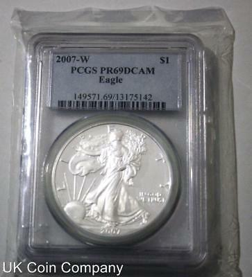2007 Silver Proof Liberty Eagle Dollar Coin Graded PCGS PR69