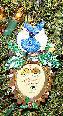 Nuzzling Blue Jays Frame Ornament (MWAH by Westland, 93965) Holds 1.5 x 2 Photo