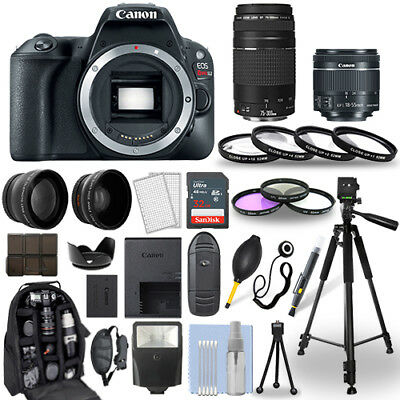 Canon EOS Rebel SL2 Camera + 18-55mm stm + 75-300mm + 30 Piece Accessory Bundle