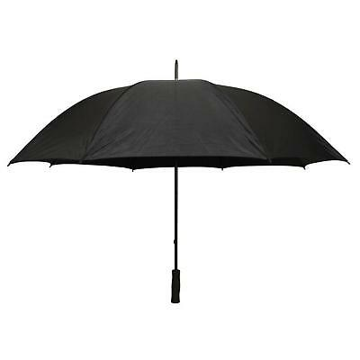 Firm Grip 5 Ft Golf Personal / Handheld Umbrella In All Black Rain Protection