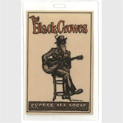 Black Crowes authentic 1990 Laminated Backstage Pass Shake Your Moneymaker Tour