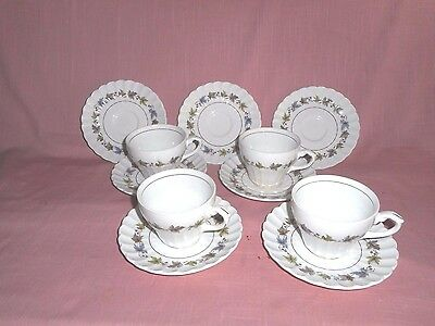4 Sets J & G Meakin Classic White 'WOODLAND 'Cup and Saucer plus 3 Saucers
