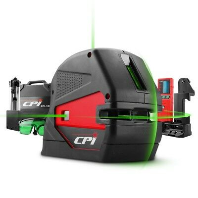 CPI CPI106G Industrial 5-Point and Cross Green Beam Line Laser Kit